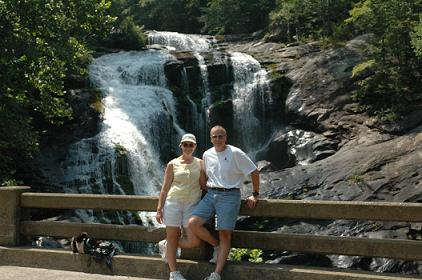 Us at Bald River Falls on the western edge of the Cherokee National Forest, Tellico Plains, TN, 08/05